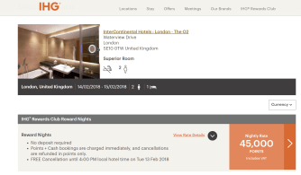 Book using IHG points
