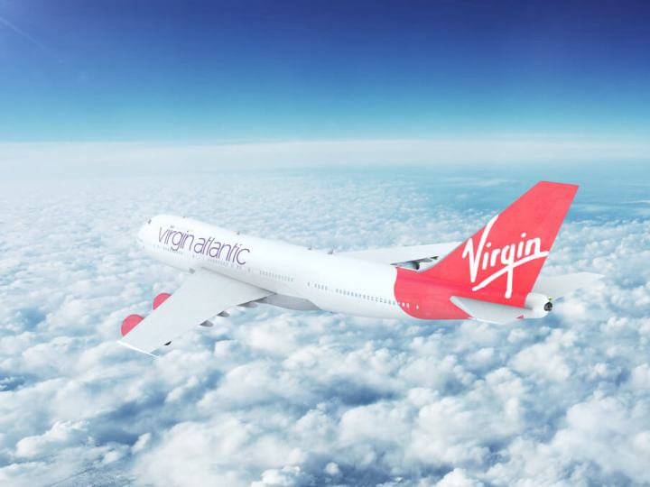 Virgin plane inflight