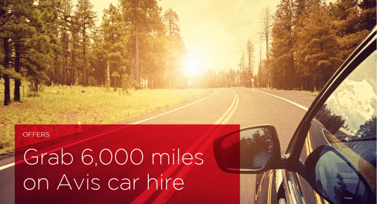 Earn 6,000 Virgin miles with Avis