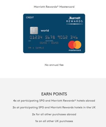 Relaunch of UK Marriott Mastercard