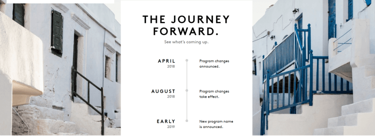 Timeline for Marriott Rewards changes