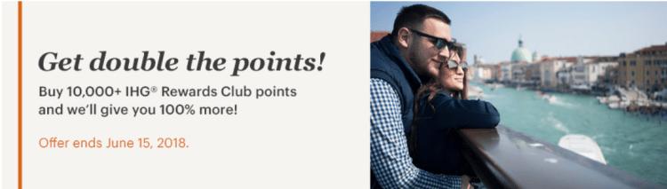 IHG buy points bonus 1