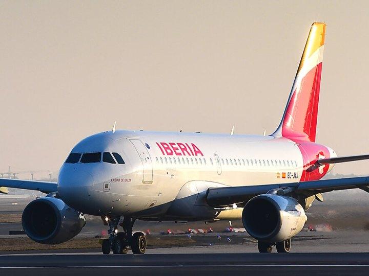 Iberia A319 after landing