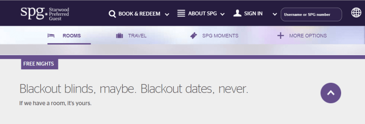Starwood blackout dates policy.png