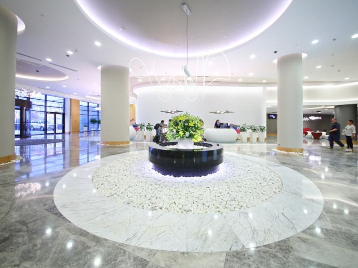 Lobby of the Hotel Radisson Blu Paradise Resort and Spa in Russia