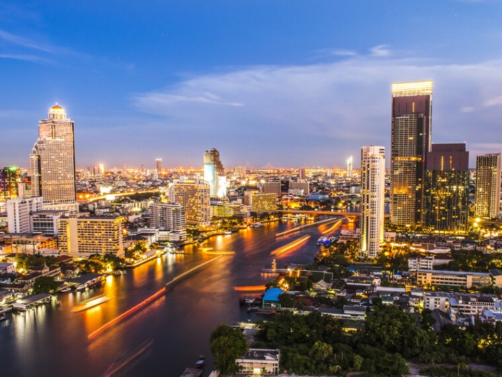 Bangkok skyline night