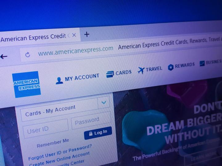 American Express website