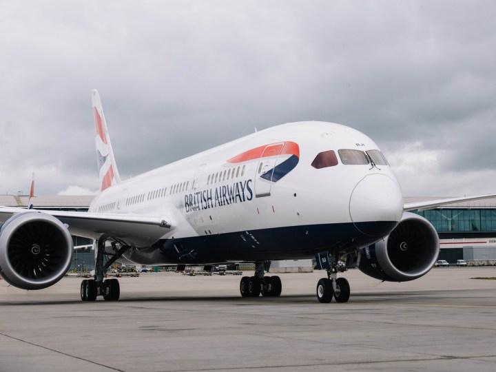 British Airways 787 at Heathrow
