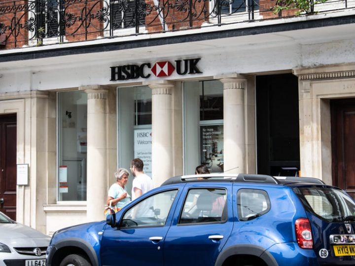 HSBC high-street bank branch Lymington