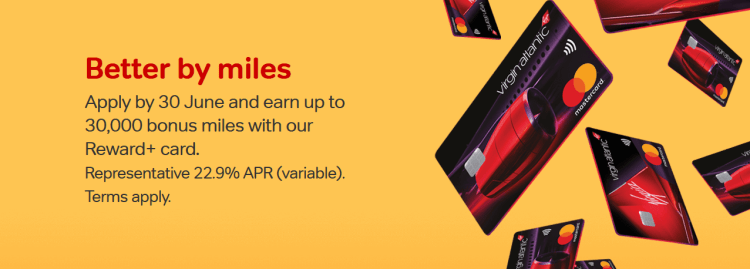 Virgin Atlantic Credit Cards 30k offer