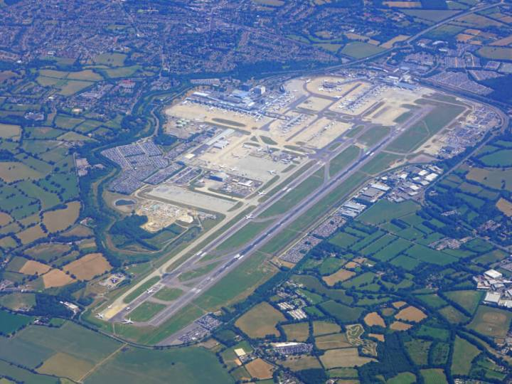 Gatwick Airport aerial view