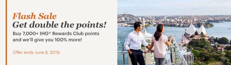 IHG 100% bonus points flash sale