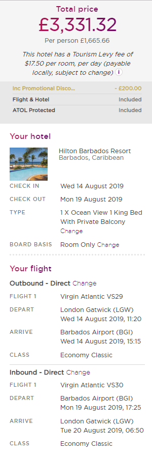 Virgin Holidays £100 Caribbean discount itinerary (1) (1)