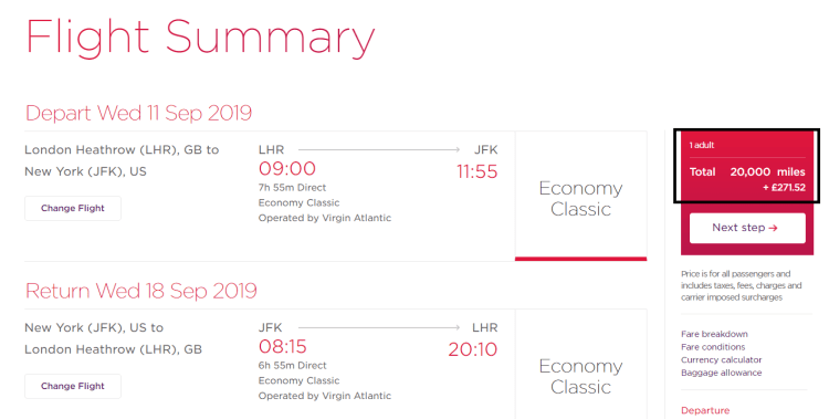 Using miles for economy flights to the US? Here's why Virgin