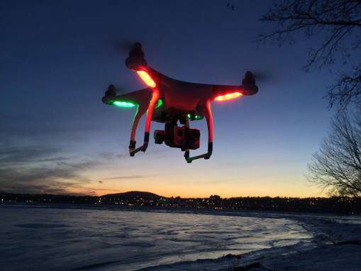 Aerial Video Drone – night