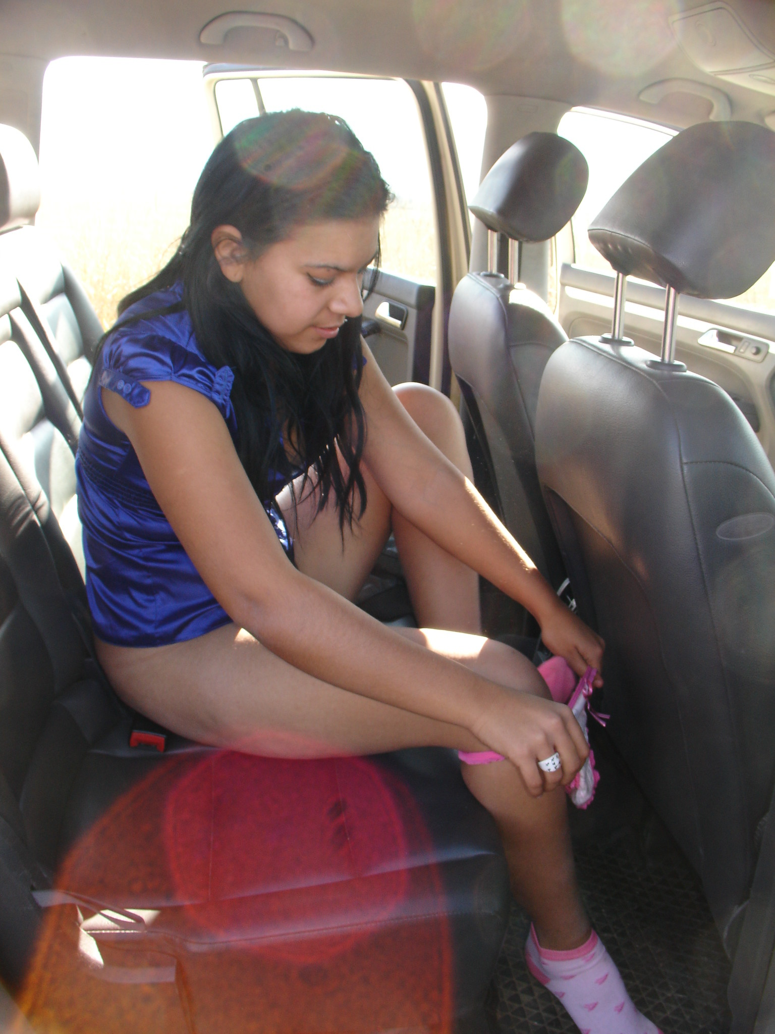 Sex in the car with a street prostitute from Romania  100