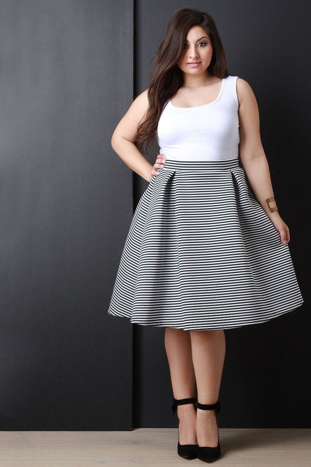 Midi skirts for women with extra weight
