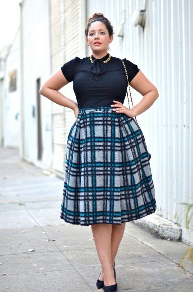 Modern plaid skirts 2019 ideas