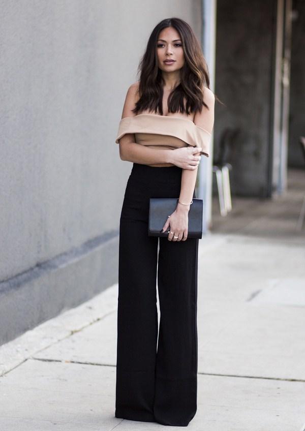 Flared pants 2019 black