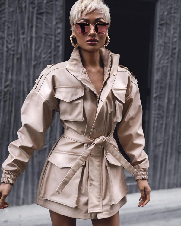 Short stylish trench coats
