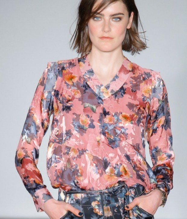 Women blouses 2021 with floral print