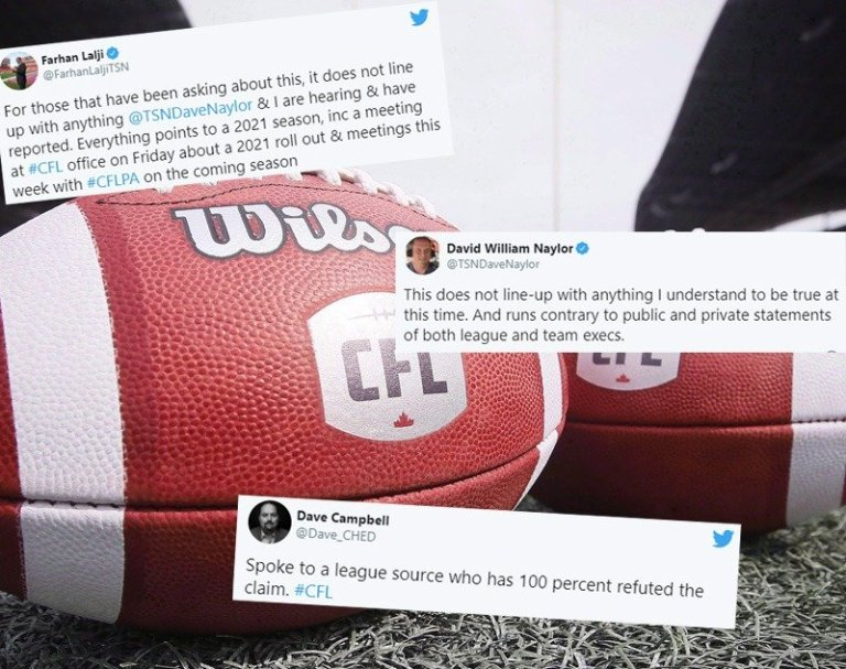 CFL Insiders Refute Claim League is Possibly Cancelling 2021/2022 Seasons