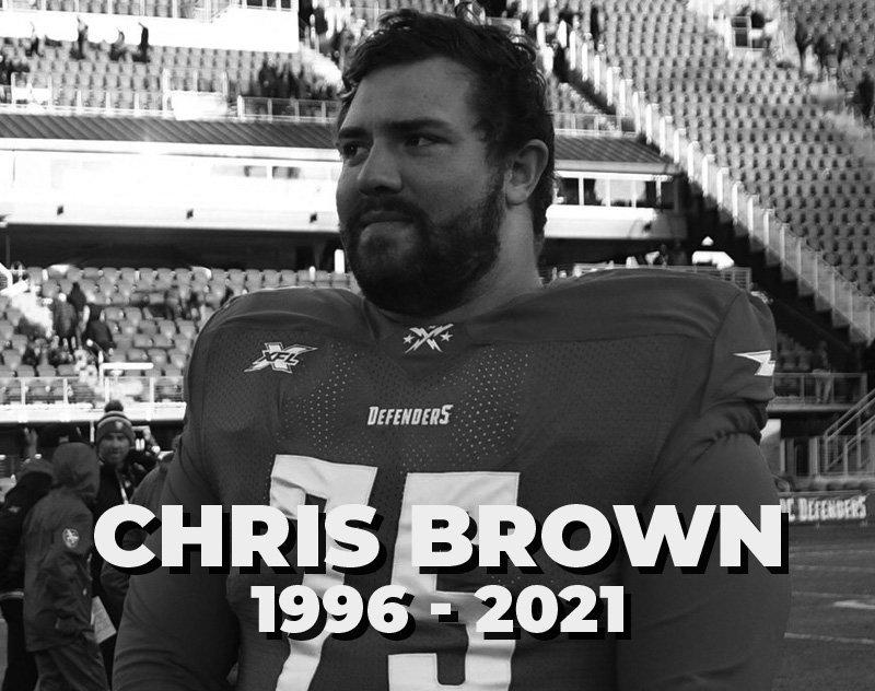 Former DC Defenders Lineman Chris Brown Dead at 24