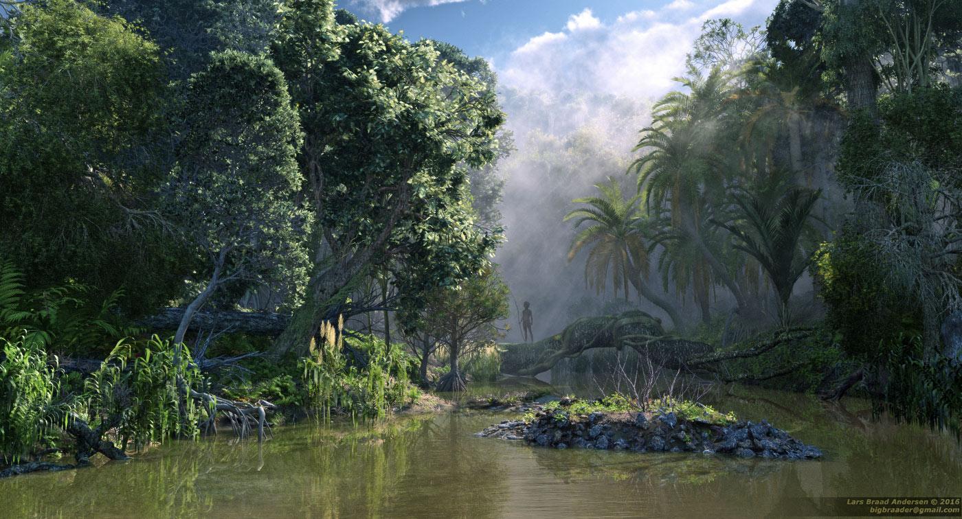 Fall Wallpaper 4d Xfrog Tropical Scenes Jungle River