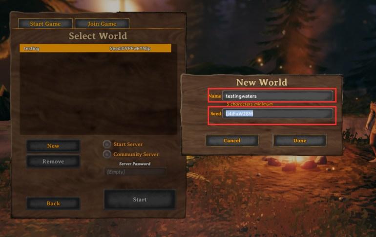 New world creation-Valheim