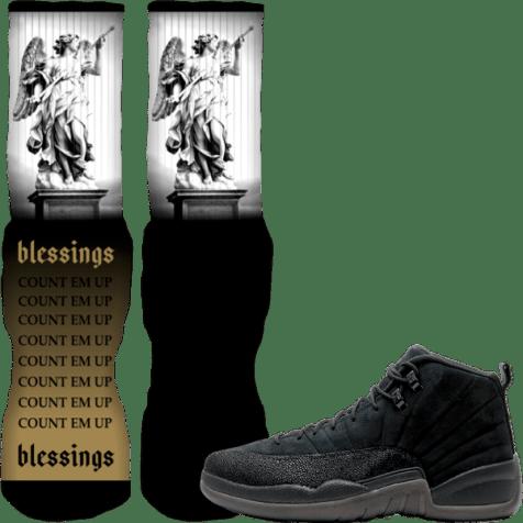 jordan-12-black-ovo-custom-sneaker-socks