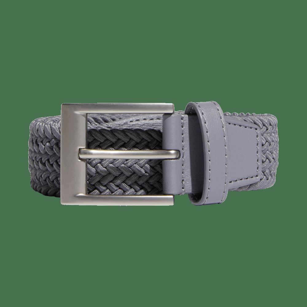 adidas braided stretch belt in light grey