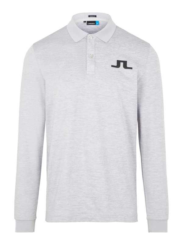 J.Lindeberg - BIG BRIDGE TX-Jersey in stone grey