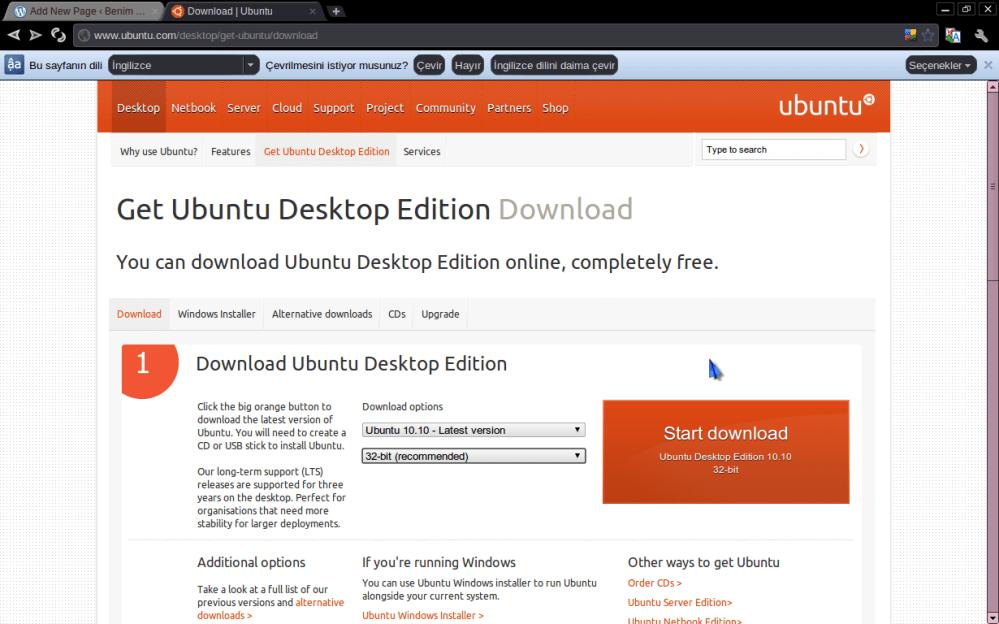 * USB Flash Diske Ubuntu Kurulumu Hazırlamak (4/6)