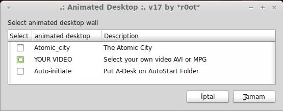 * Ubuntu'da Hareketli Masaüstü A-Desk Kurulumu (6/6)