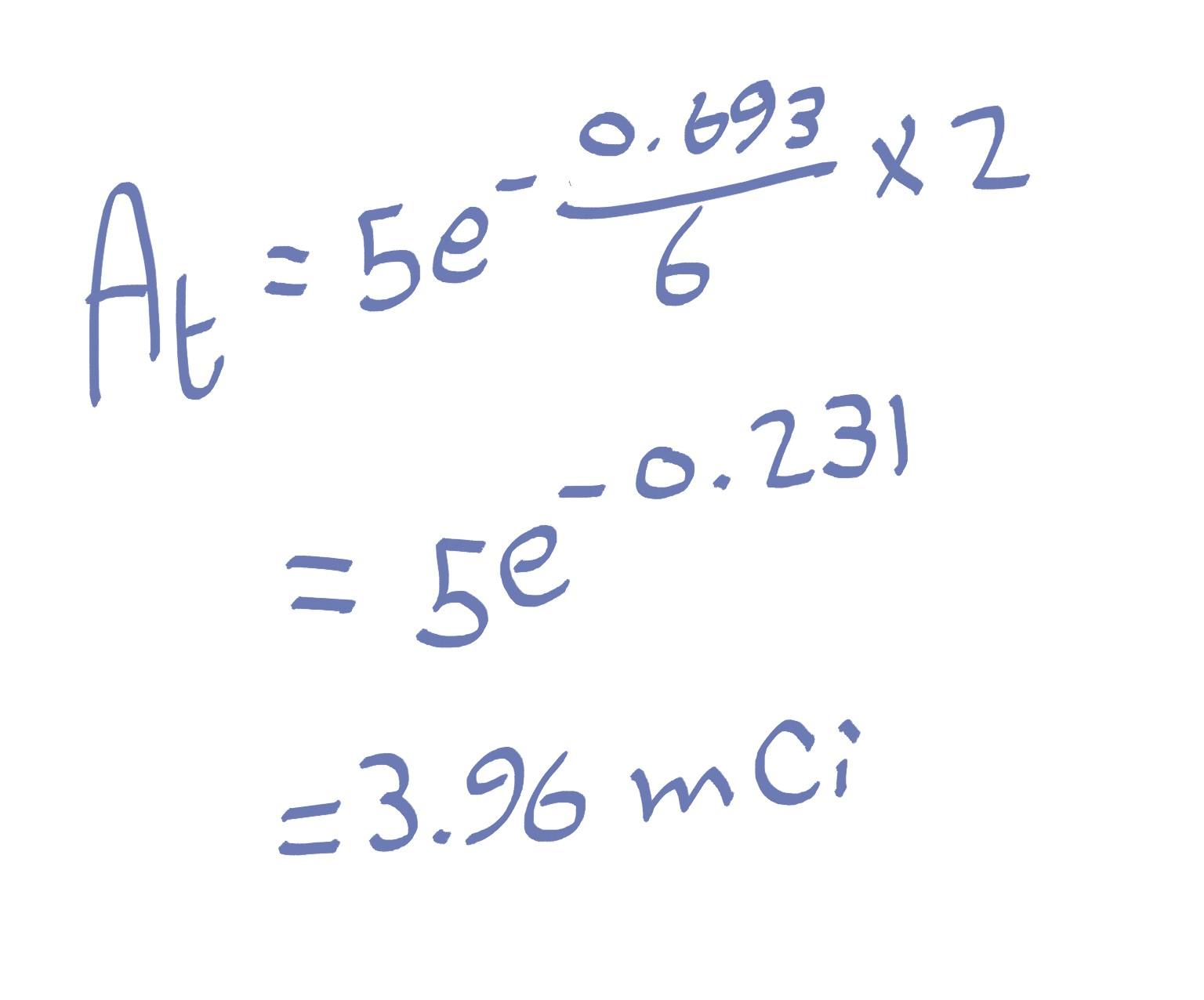 Radioactive Decay Formula