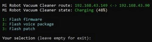 Процесс изменения IP-адреса и токена для робота-пылесоса Сяоми