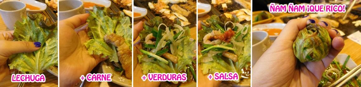 como-comer-samgyeopsal