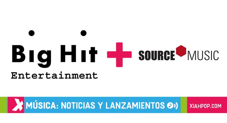 Big Hit Entertainment adquiere y se fusiona con Source Music