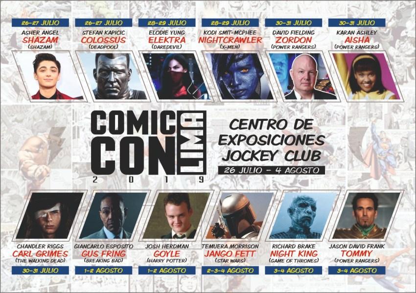 COMIC CON LIMA anuncia cartel definitivo de artistas