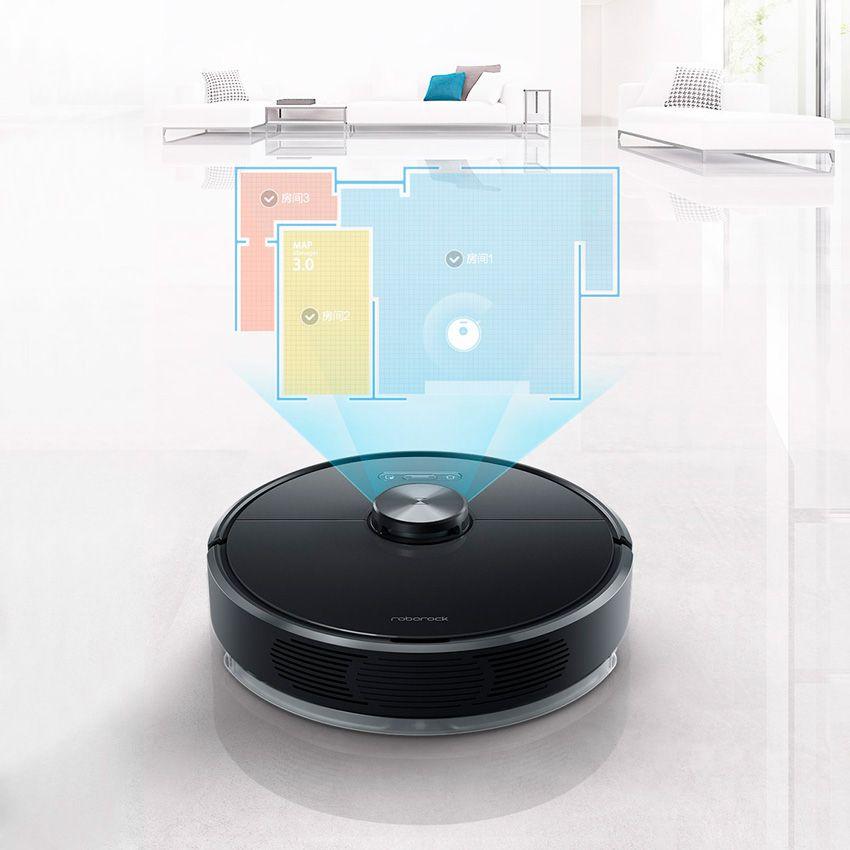 Робот пылесос Xiaomi Roborock T6 - управление комнатами на карте