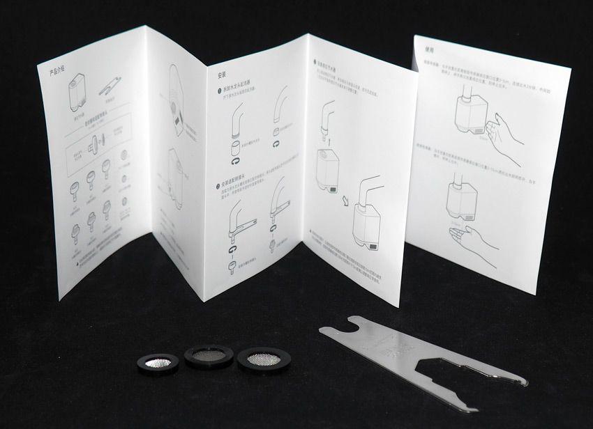 Ключ и инструкция к сенсорной насадке на кран от Xiaomi