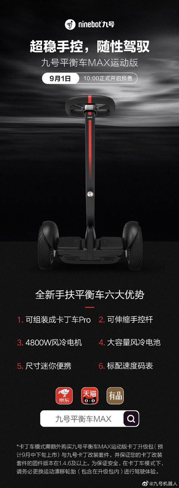 No. 9 balance scooter Max sports version