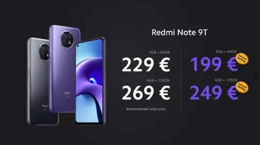 Redmi Note 9T Price