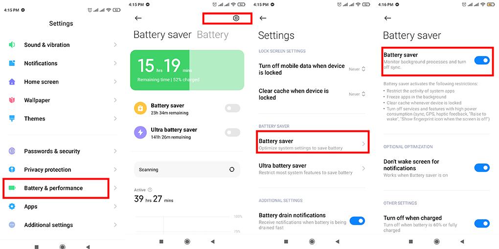 Xiaomi phone battery drain