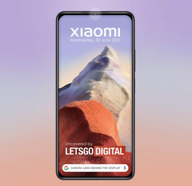 xiaomi under-screen camera patent