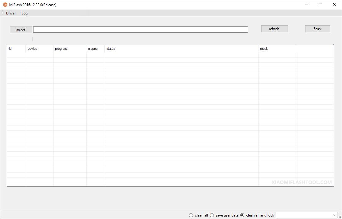 Xiaomi Flash Tool 20161222