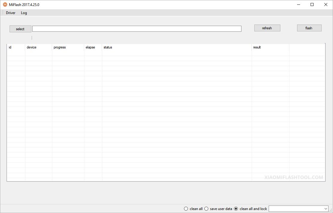 Xiaomi Flash Tool 20170425