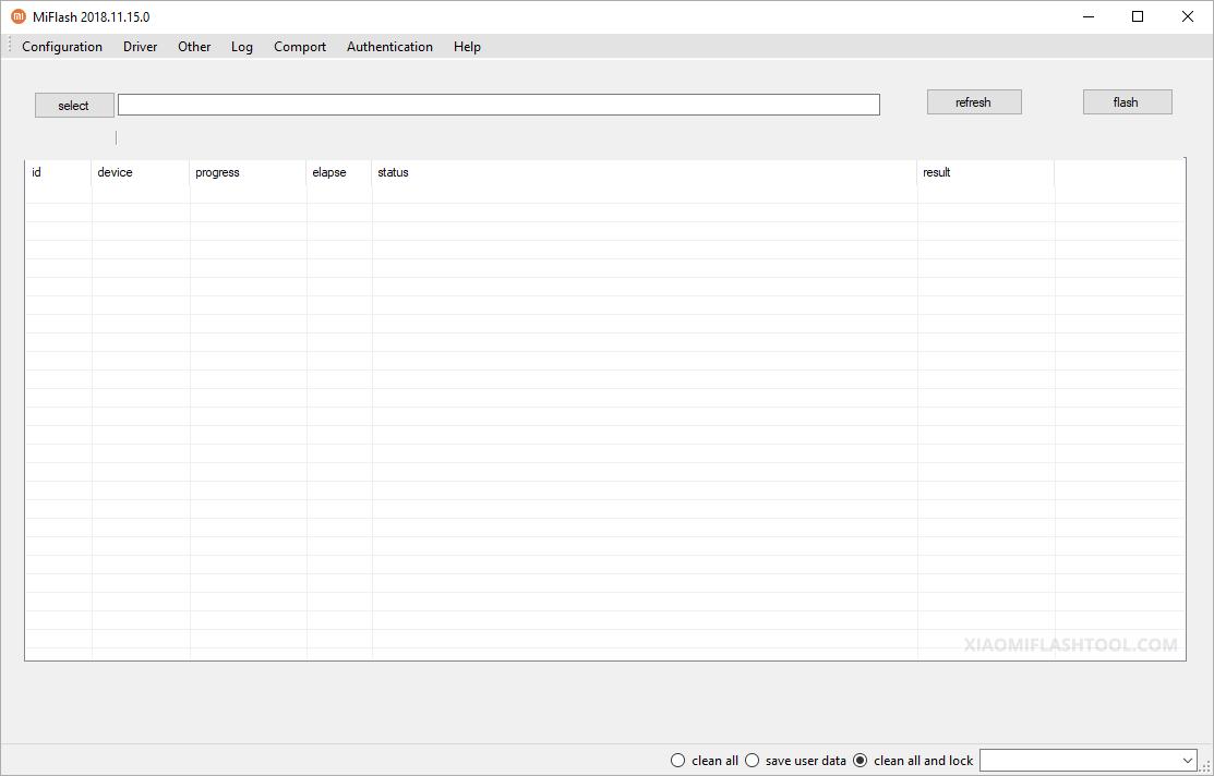 Xiaomi Flash Tool 20181115