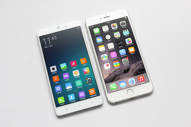 Xiaomi M5 vs iPhone 6s plus