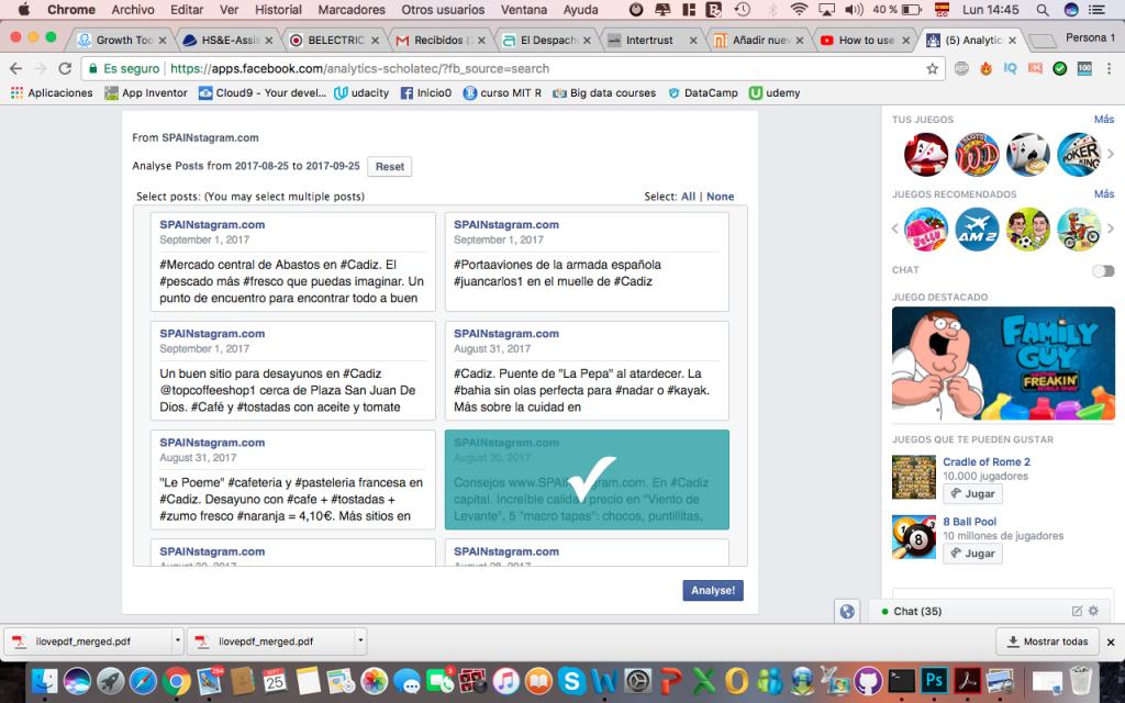 analiticas facebook